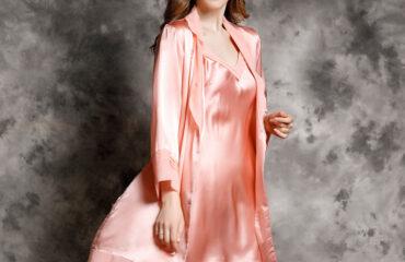 Women's Silk Nightgown & Robe Set 2